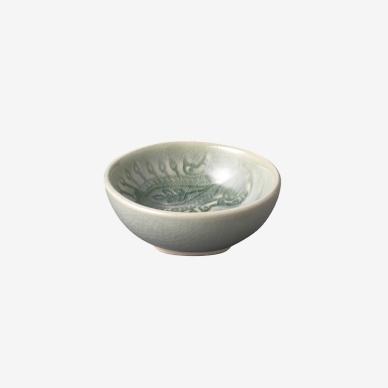Sth%C3%A5l+Keramik alt Arabesque Dippskål Antik