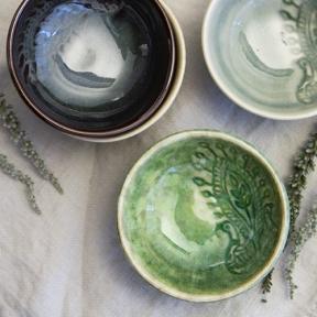 Sthål Keramik Arabesque Dippskål Sjögräs
